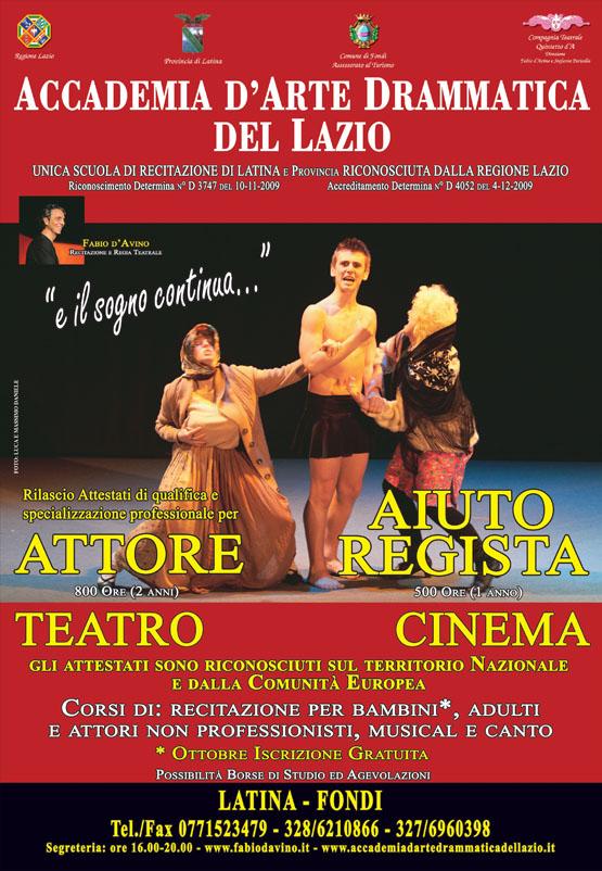 Corsi Accademia Arte Drammatica del Lazio 2011