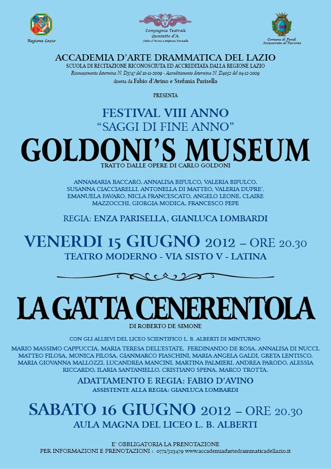 Goldoni's museum e La gatta Cenerentola 2012