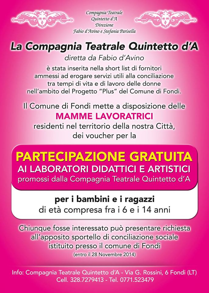 Laboratori didattici e artistici 2014