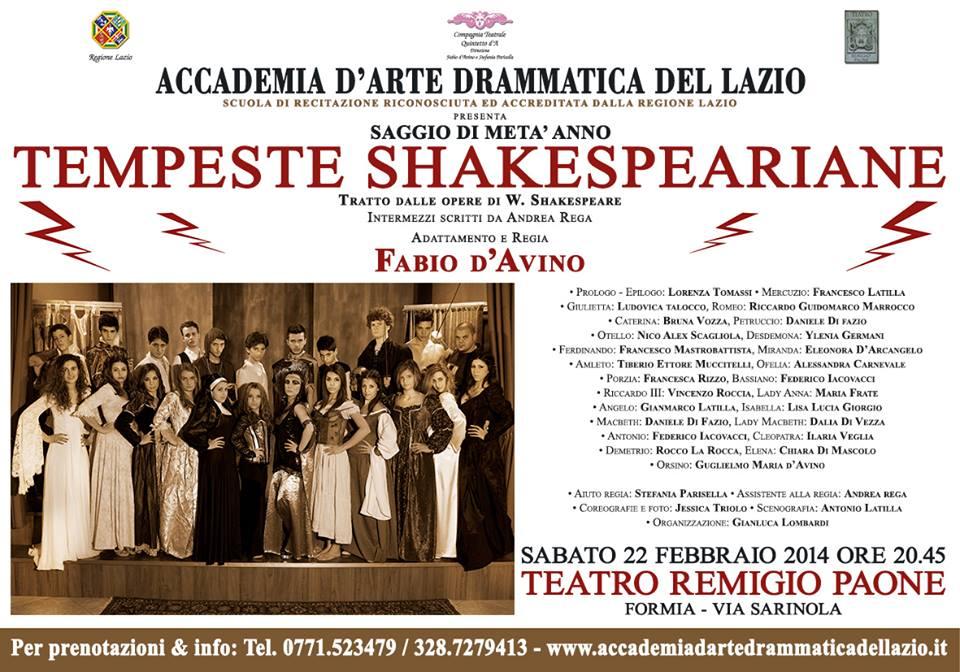 Tempeste Shakespeare 2014